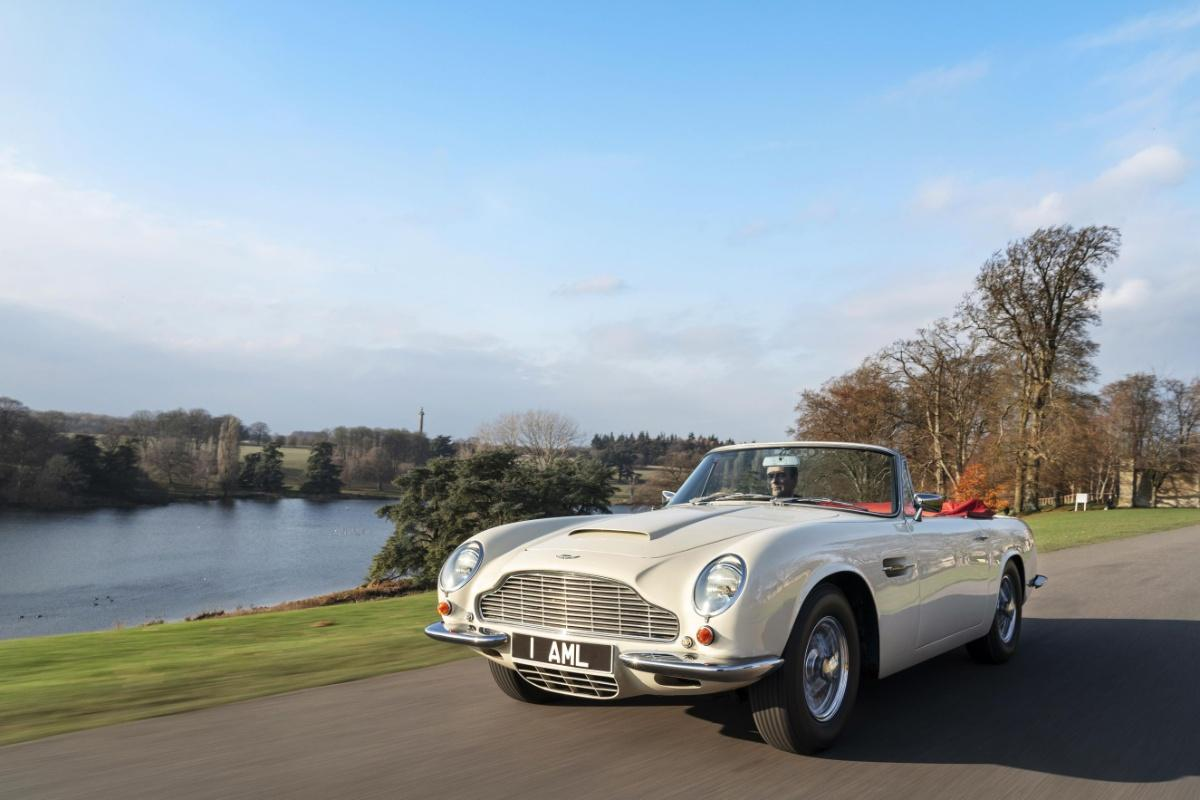 Aston DB6 MkII Volante classic auto  converted into an all-electric powerhouse
