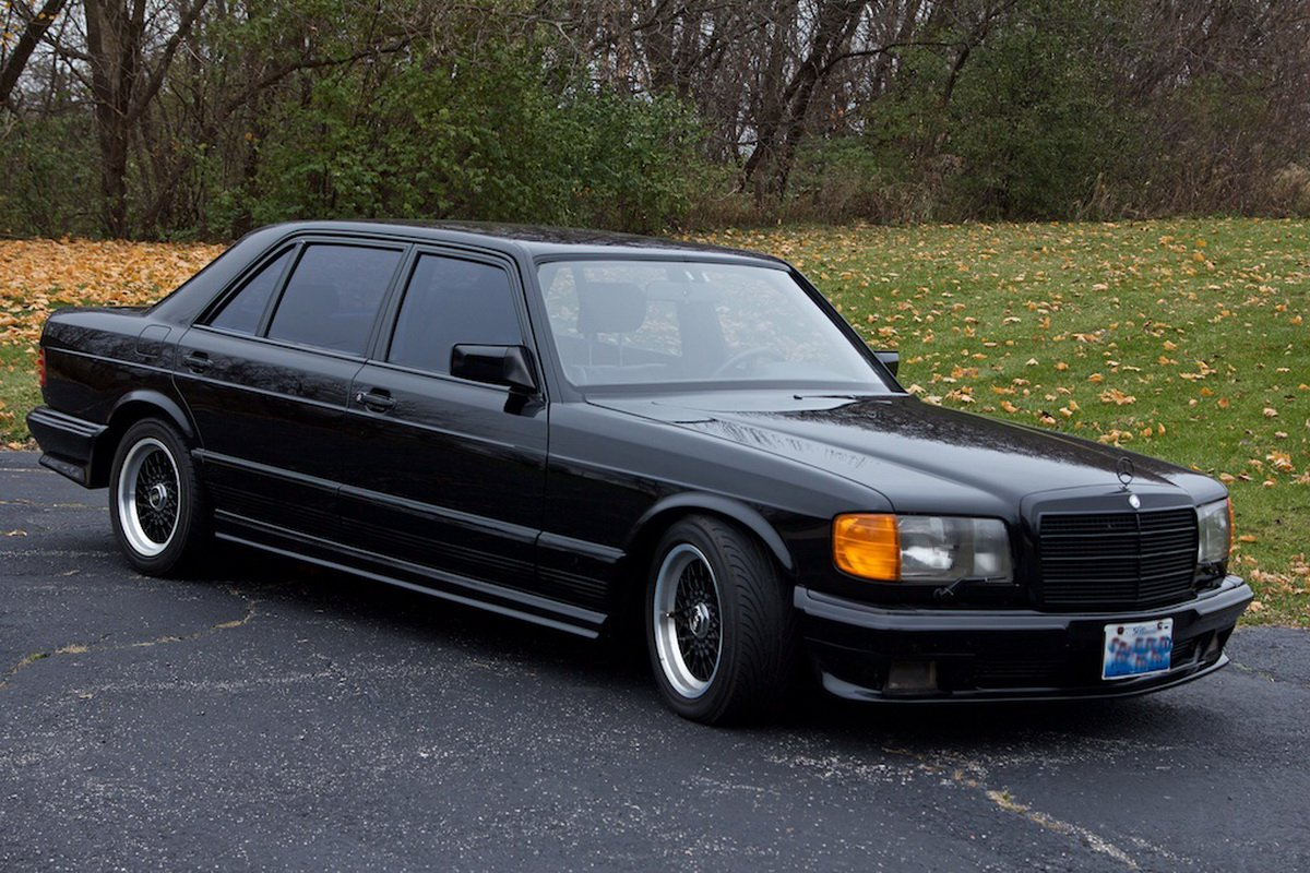 """It was a bit of a fad in the 1980s to take a premium car like the Mercedes 500SEL or the 560SEL, tune the hell out of it and then give it a new badge that would read """"1000SEL"""" or something similar"""