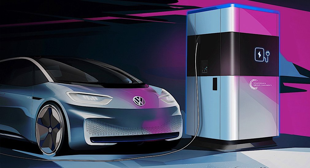 Volkswagen presents a mobile electric vehicle charging station