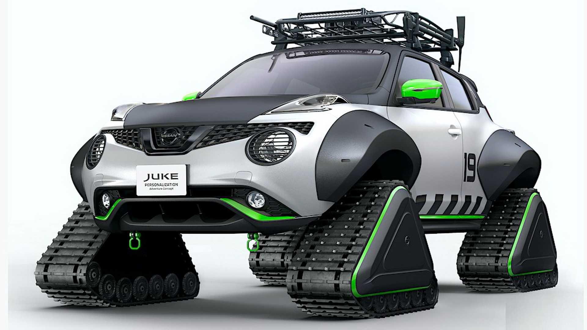 Японская компания «Ниссан» решила шокировать гостей Токийского автосалона необычной версией Juke