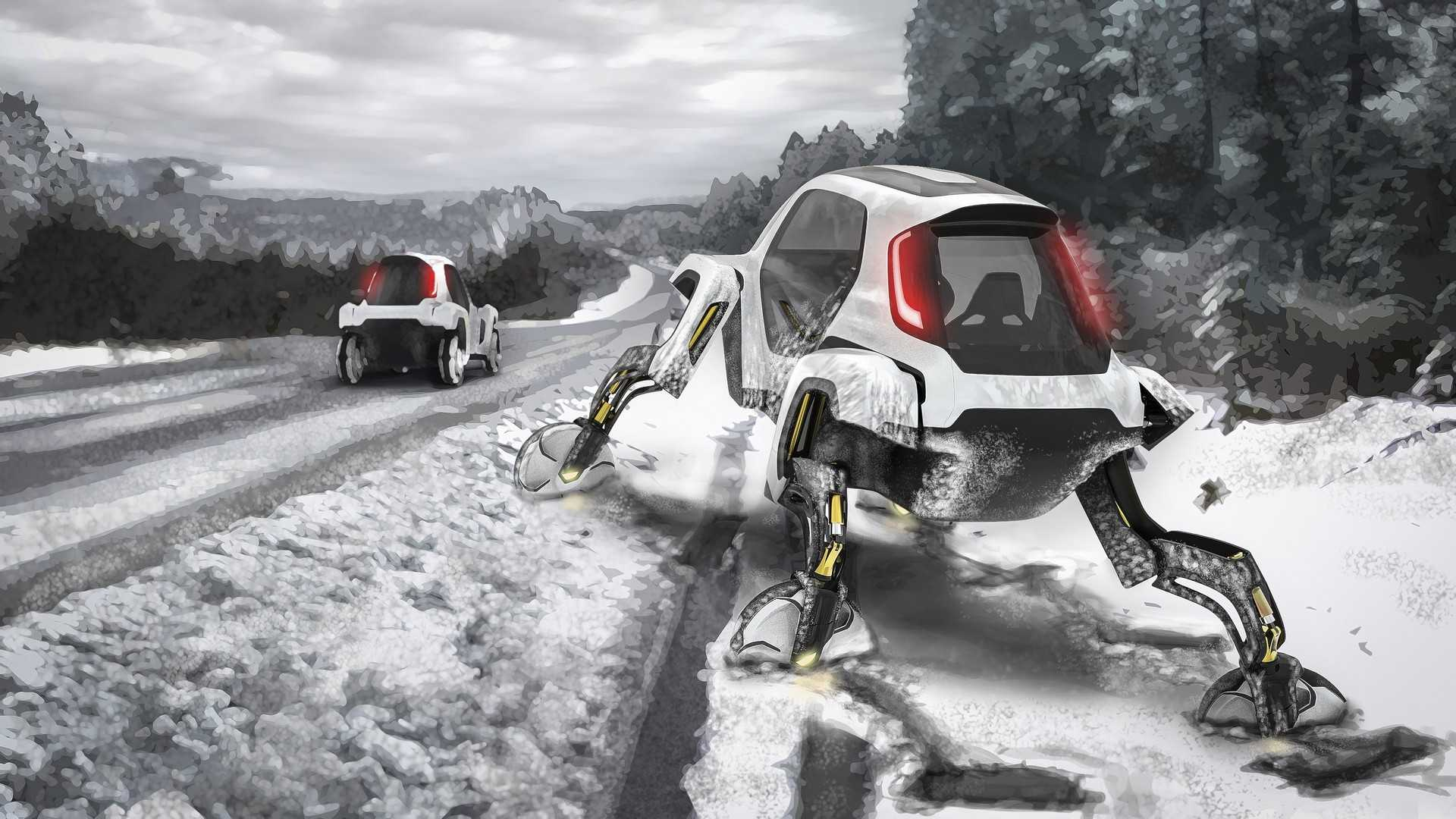 На выставке в Лас-Вегасе южнокорейская компания Hyundai продемонстрировала прототип с роботизированными ногами