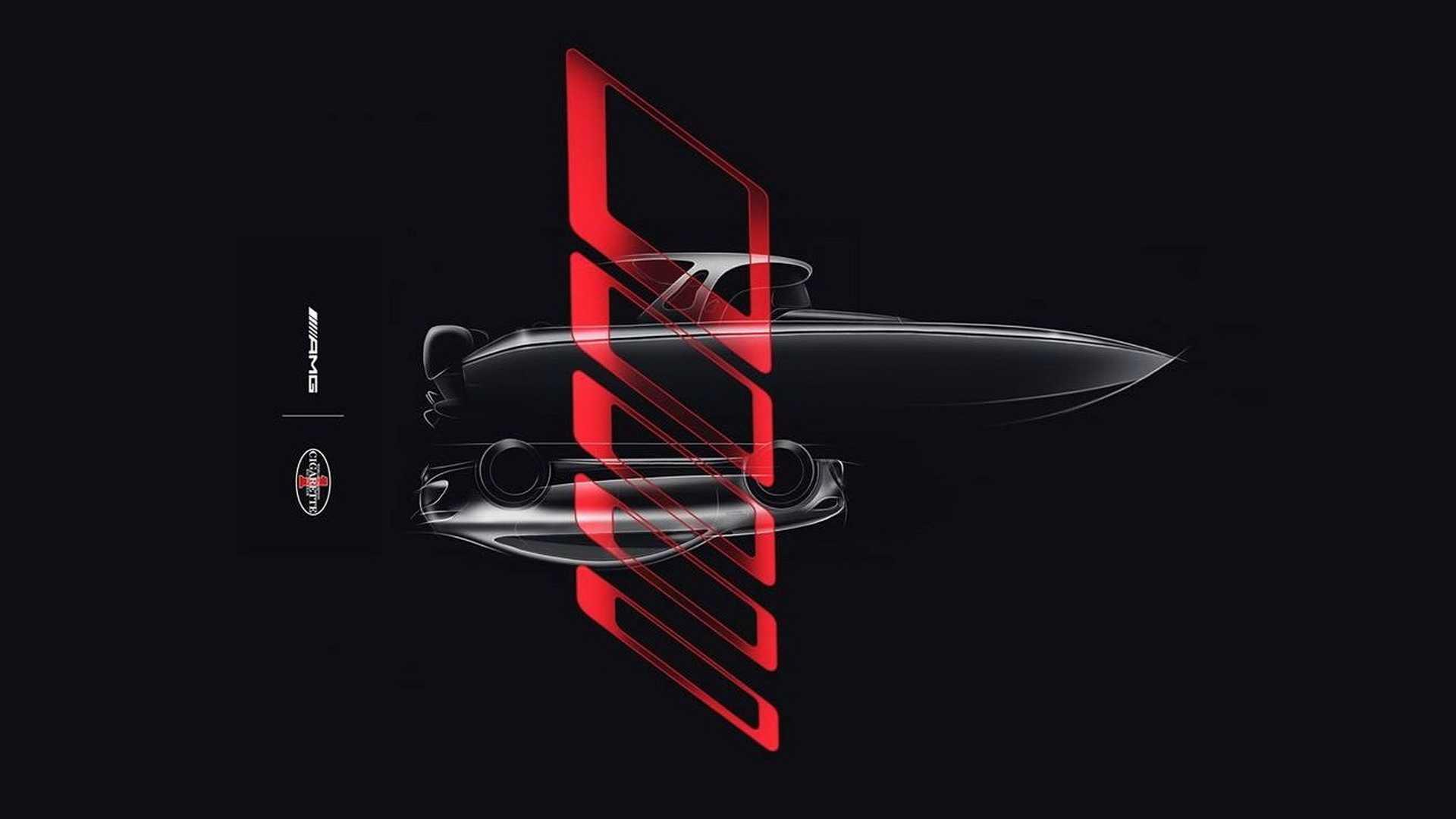 Компания Mercedes-AMG распространила официальное изображение скоростного катера, дизайн которого разработан с прицелом на купе GT 4-Door Coupe