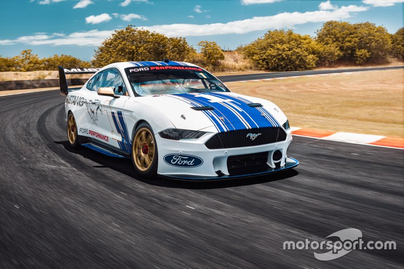 Car manufacturer Ford has designed and built a new Ford Mustang-based racecar for the Supercars racing championship held in Australia