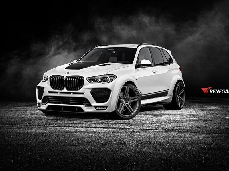 Russian tuner Renegade Design has posted some 3D concept sketches showing what will eventually become a full-fledged body kit for the latest-gen BMW X5 (G05)