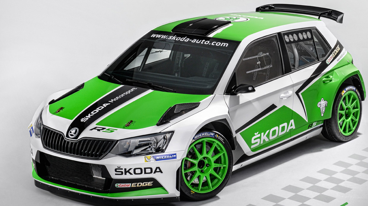 Skoda Motorsport will reveal the restyled version of its Fabia R5 rally car at an international motor show next month