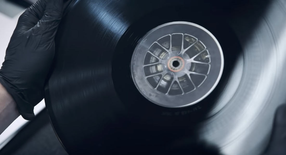 Porsche has used the last remaining tire set of its 919 Hybrid Concept racecar to create 200 vinyl records, each one holding the same 24 stories dedicated to the German luxury carmaker's history of participation in the 24 Hours of Le Mans
