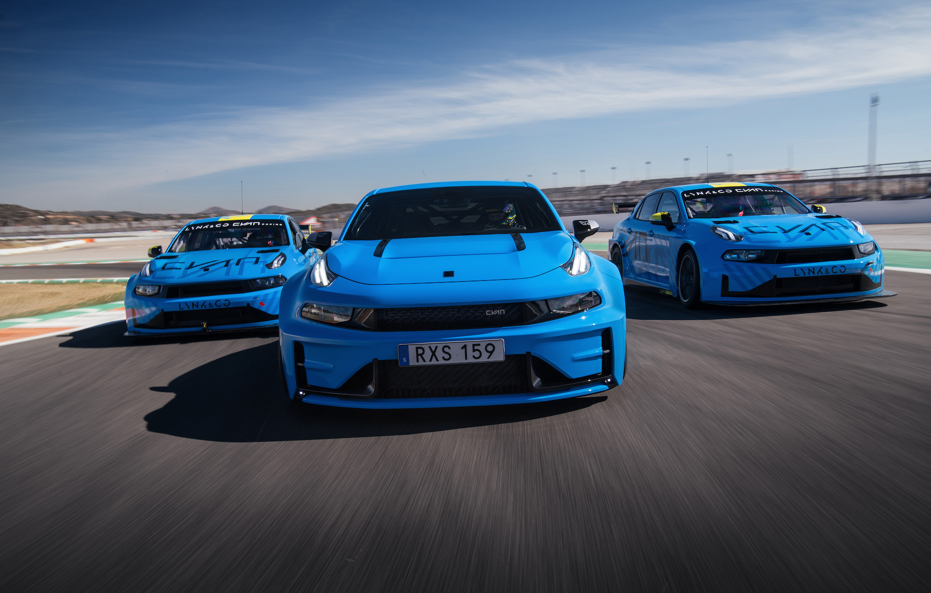 The Cyan Racing team just finished testing the prototype version of the Chinese-designed Lynk & Co 03 Cyan sedan/saloon