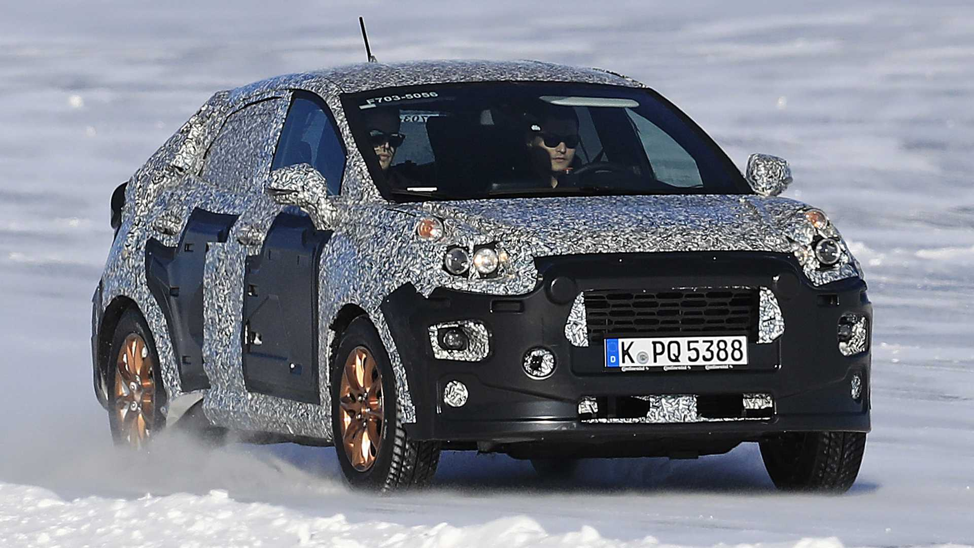 Недалеко от полярного круга в Скандинавии фотошпионам удалось заснять испытания новой модели Ford, которая придет на смену компакт-кросса EcoSport