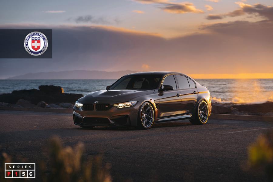 На днях в Сети появились фотографии седана BMW M3 (F80), «обутого» в кованые диски от HRE Performance