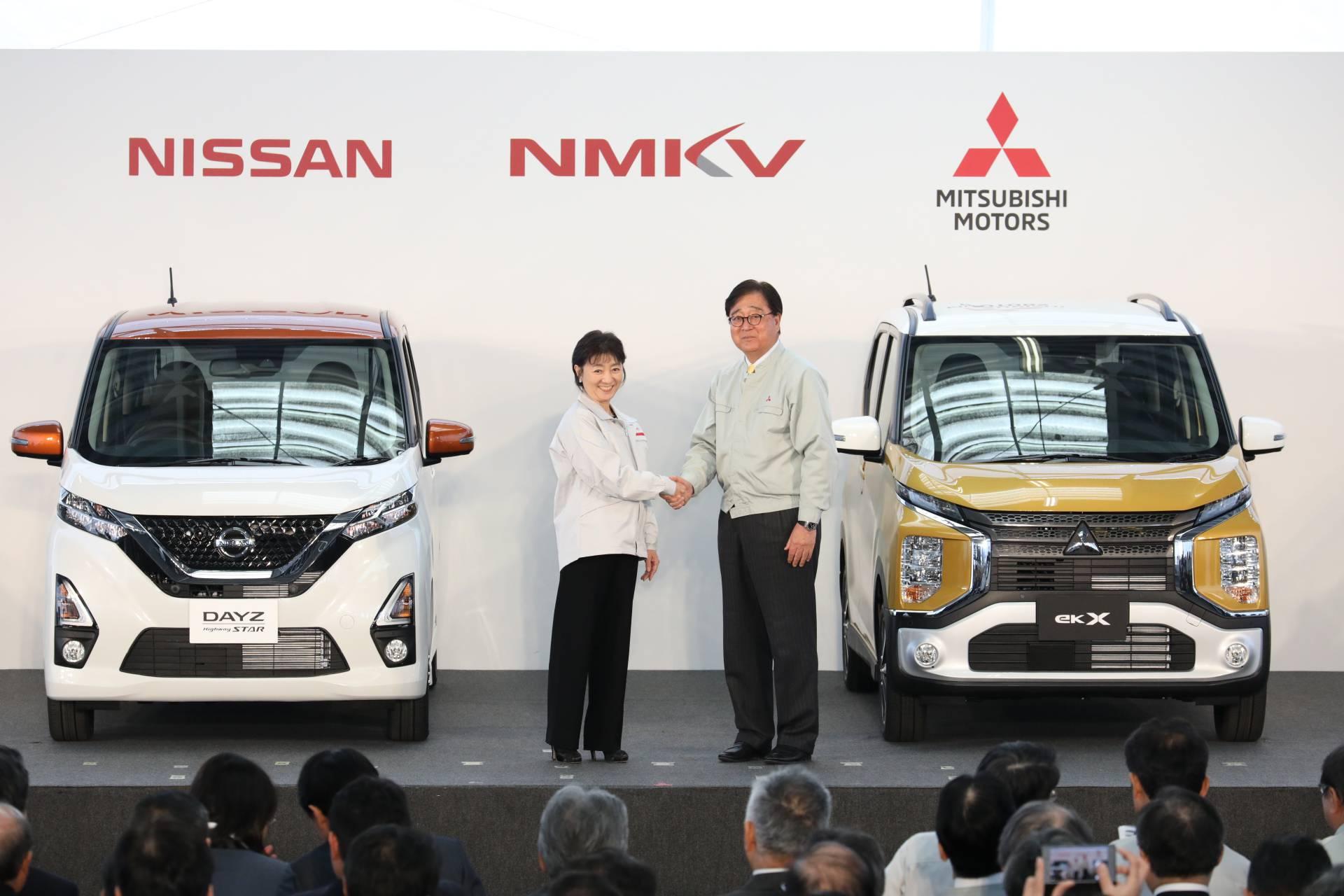 Совместное предприятие Nissan и Mitsubishi начало производство кей-каров Mitsubishi eK и Nissan Dayz новой генерации