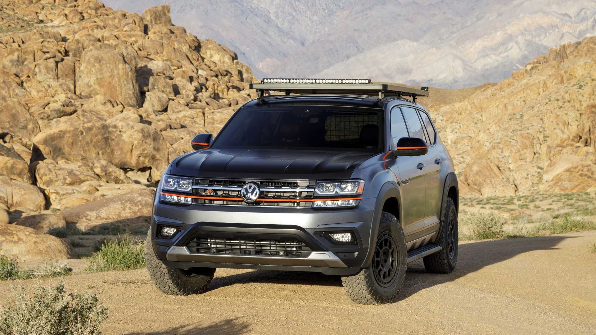 The North American subdivision of Volkswagen has unveiled the Atlas Basecamp Concept, a large seven-seat SUV reportedly ideal for long trips into the wilderness