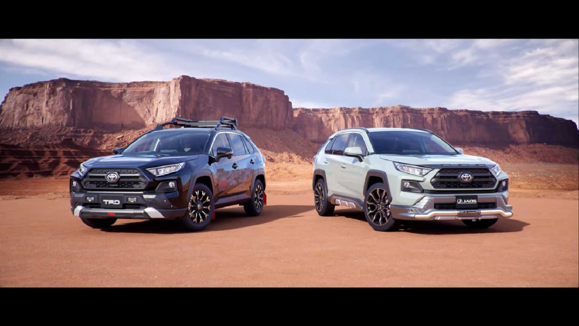 Toyota has made four new versions of its RAV4 SUV available in Japan, two of which have been designed by Toyota Racing Development (TRD) and the other two by Modellista
