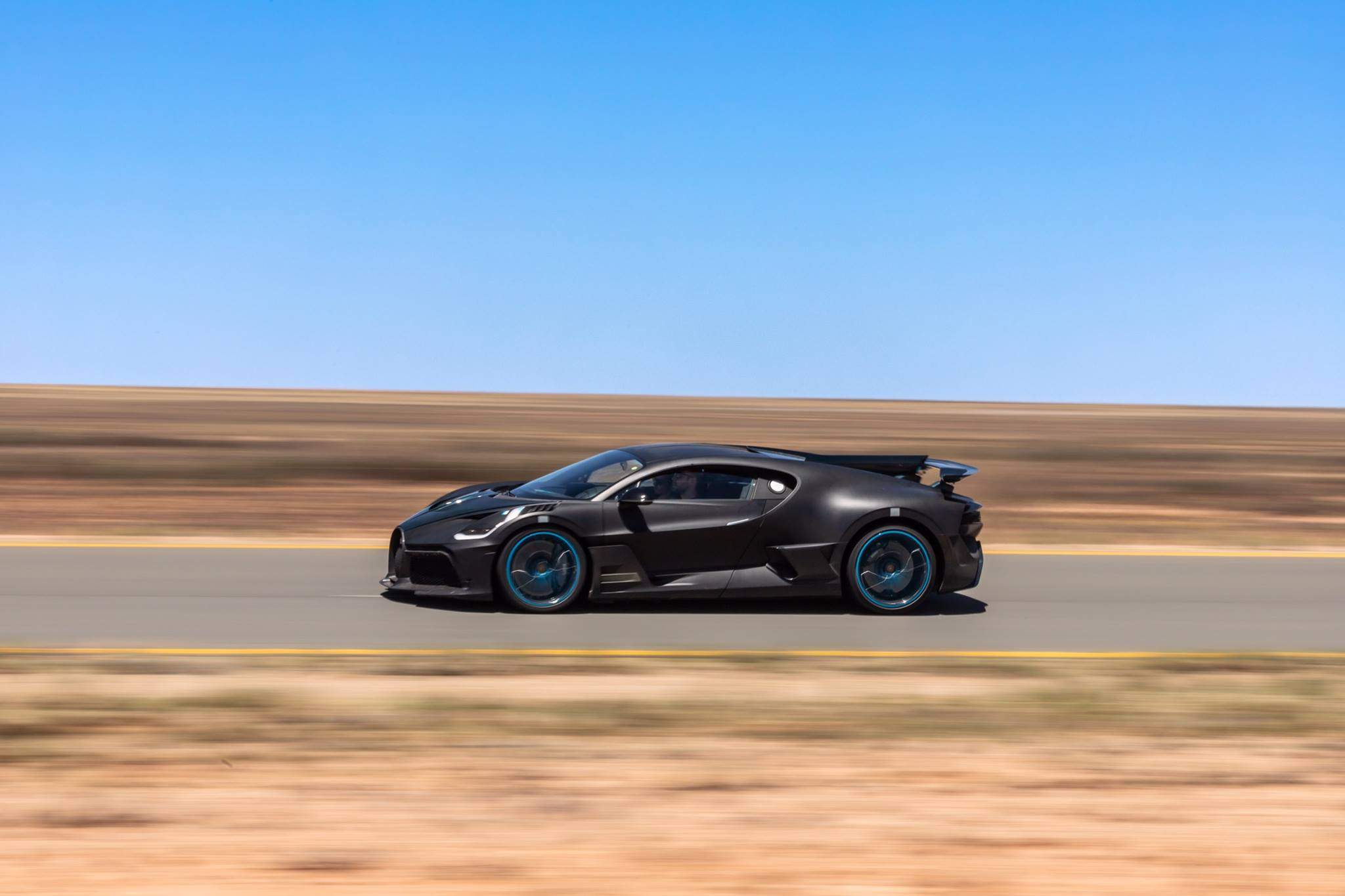 Bugatti has posted photos of its new Divo hypercar on its social network pages