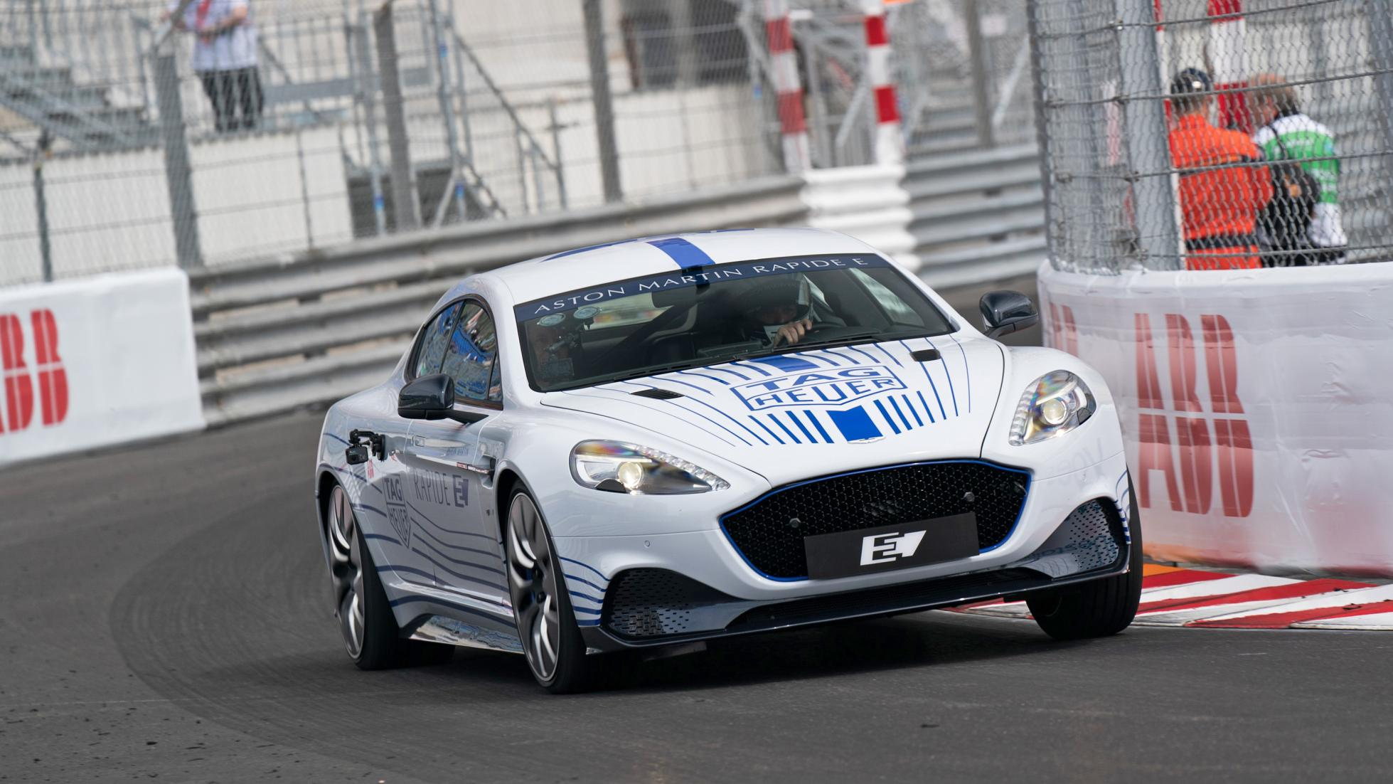 The all-electric Aston Martin Rapide E supercar, which originally debuted at the 2019 Auto Shanghai show in China, now completed a demo lap before the Formula E Gran Prix in Monaco