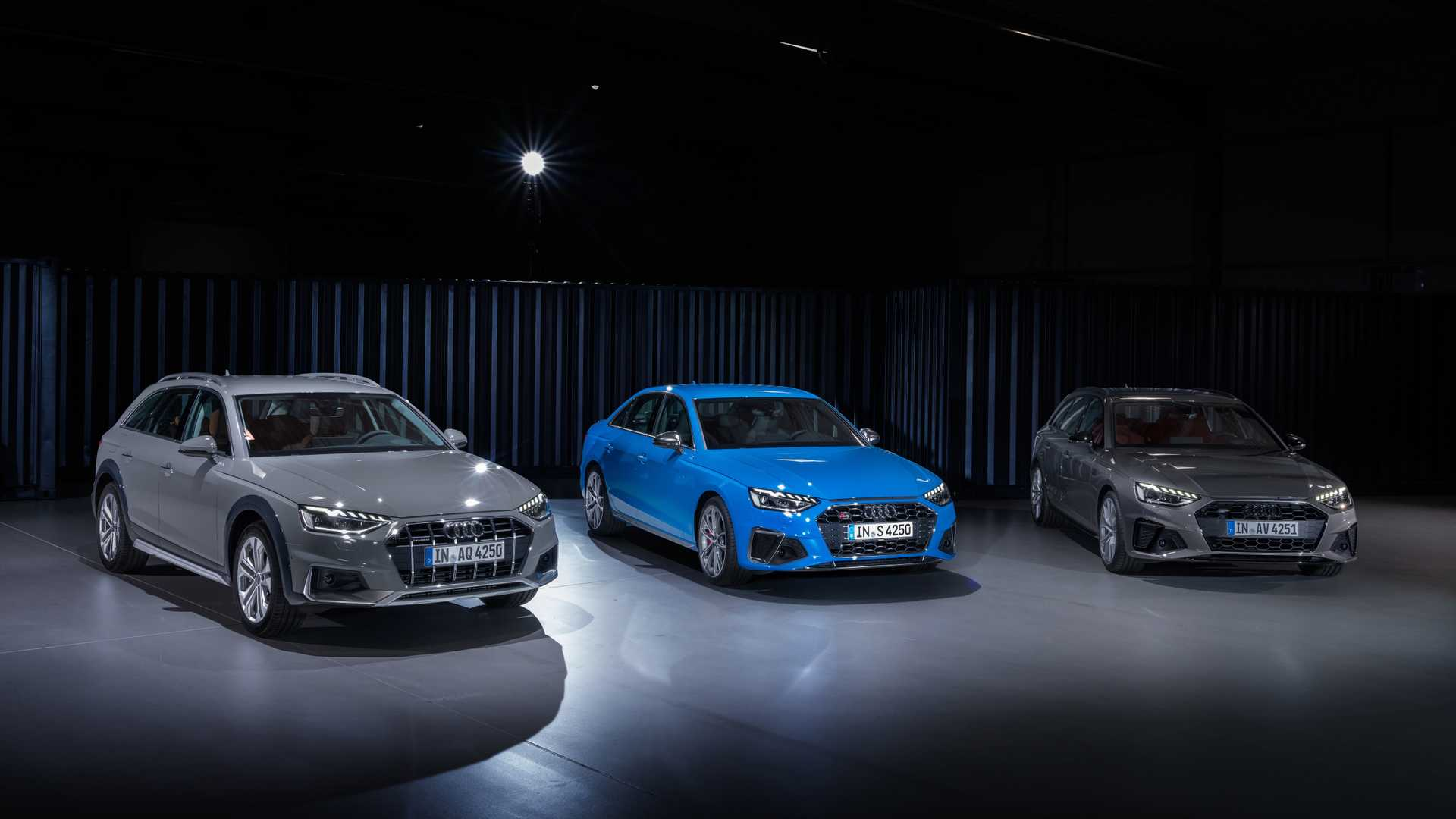 The range of the update encompasses the following car types: sedan/saloon, estate/wagon, and crossover/SUV (the A4 Allroad)