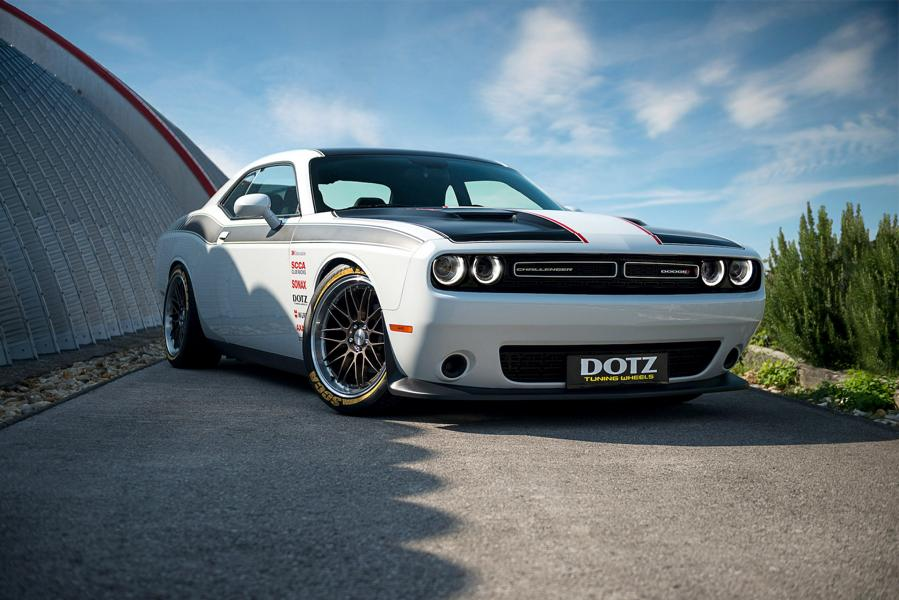 Dominic Tiroch, a renowned Austrian racing driver and NASCAR star, has shown us his Dodge Challenger stylized to look like an awesome retro racecar