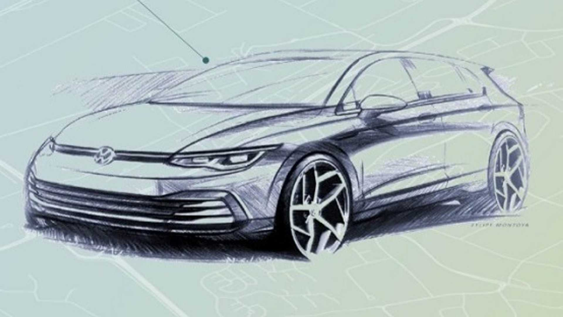 First official pictures showing the body and cabin of the new, 8th-gen Volkswagen Golf have recently appeared on the manufacturer's website