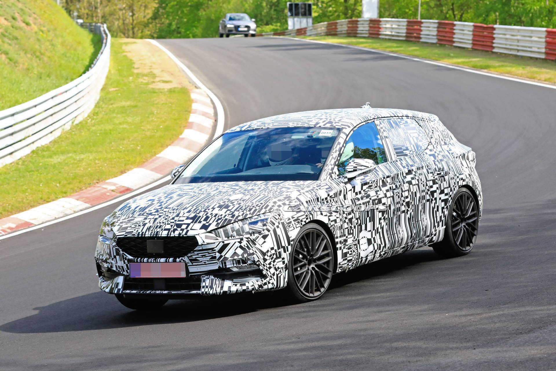 Car spotters have discovered a sported-up version of the Seat Leon hatchback on a test drive on the North Loop of the Nürburgring Circuit, Germany