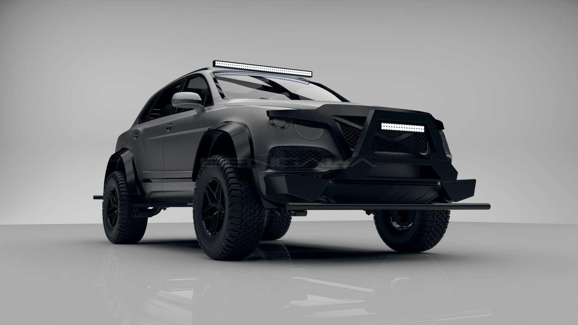 Испанская мастерская Bengala Automotive Design SL опубликовала тизеры кастомного внедорожника на базе Bentley Bentayga