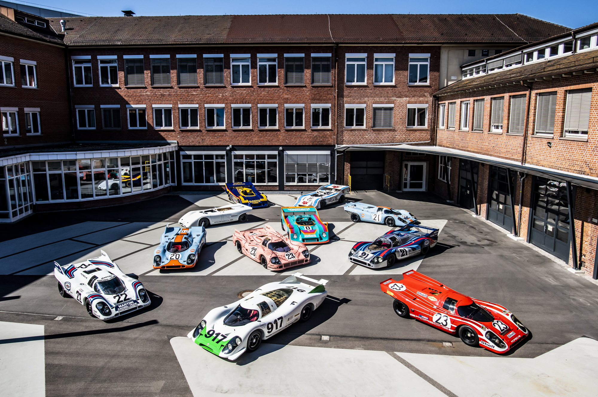 The Porsche Museum has set up a special anniversary exhibition to celebrate the 50th birthday of the Porsche 917 racecar