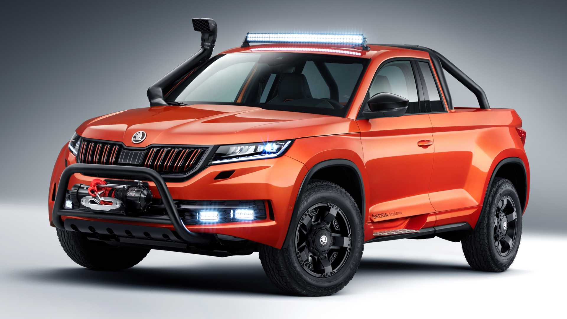 Skoda has officially presented the sixth prototype vehicle conceptualized and built by the students of its vocational academy. Based on the Kodiaq SUV chassis, the conversion is a pickup truck called 'Mountiaq'