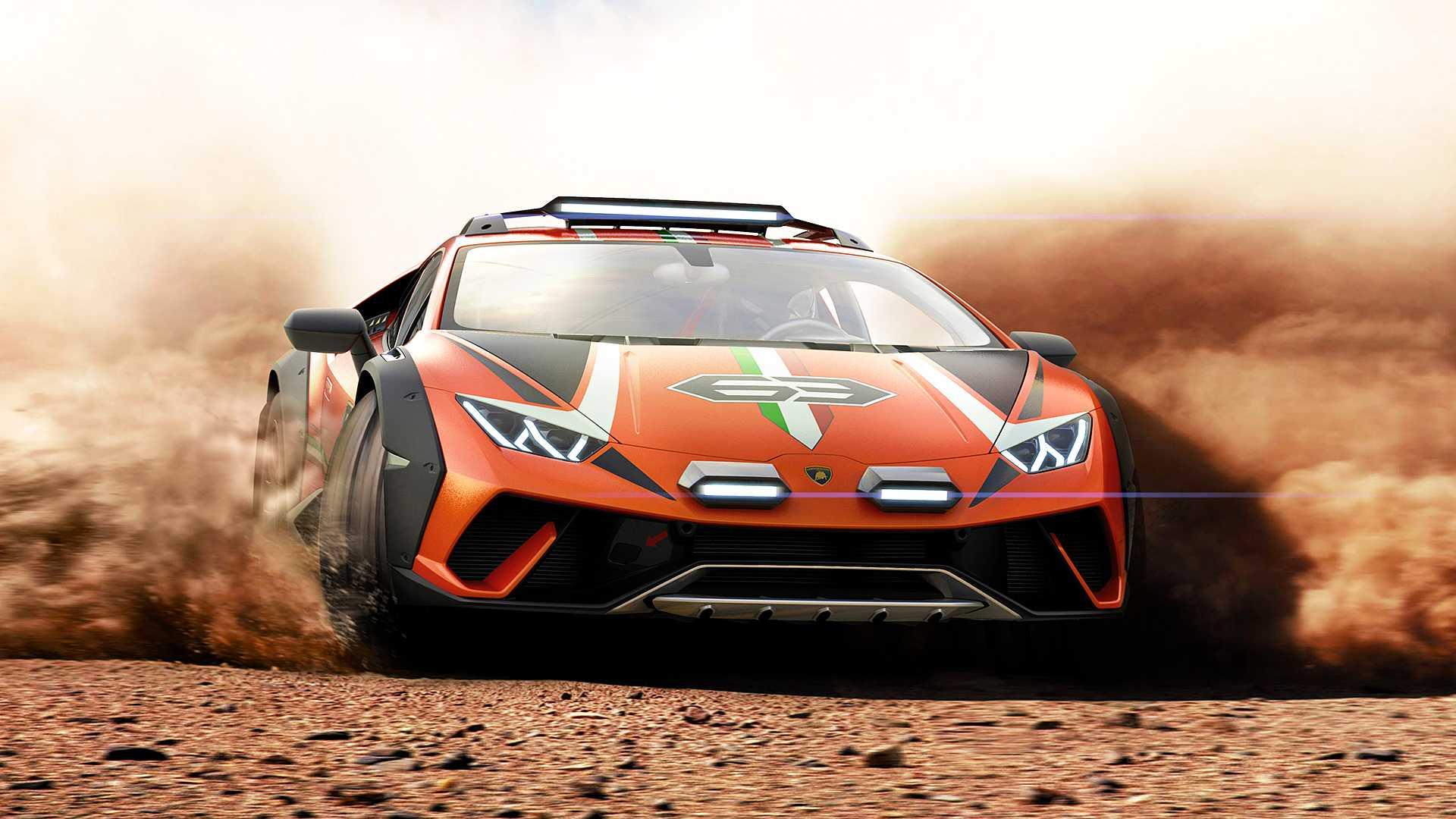 Компания «Ламборджини» представила концептуальный Huracan Sterrato – помесь суперкара и кроссовера «Урус»