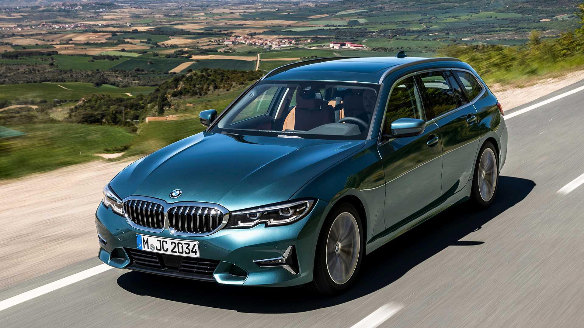 На одном из немецких сайтов появились официальные фотографии нового BMW 3-Series в кузове универсал