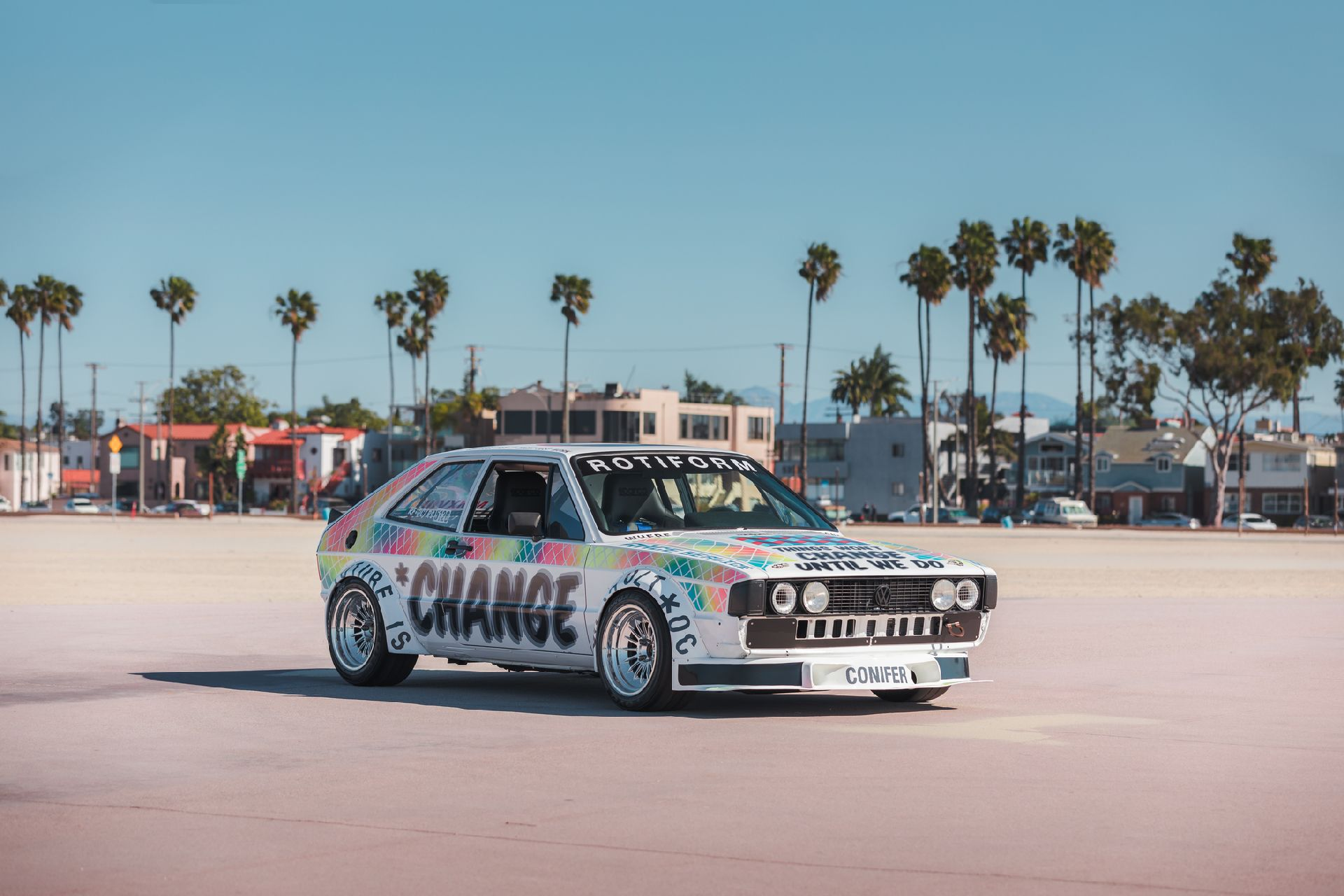Jason Whipple, the owner of a wheel shop in California, has spent more than ten years restoring and upgrading this unique car, which he calls 'Million Dollar Scirocco'