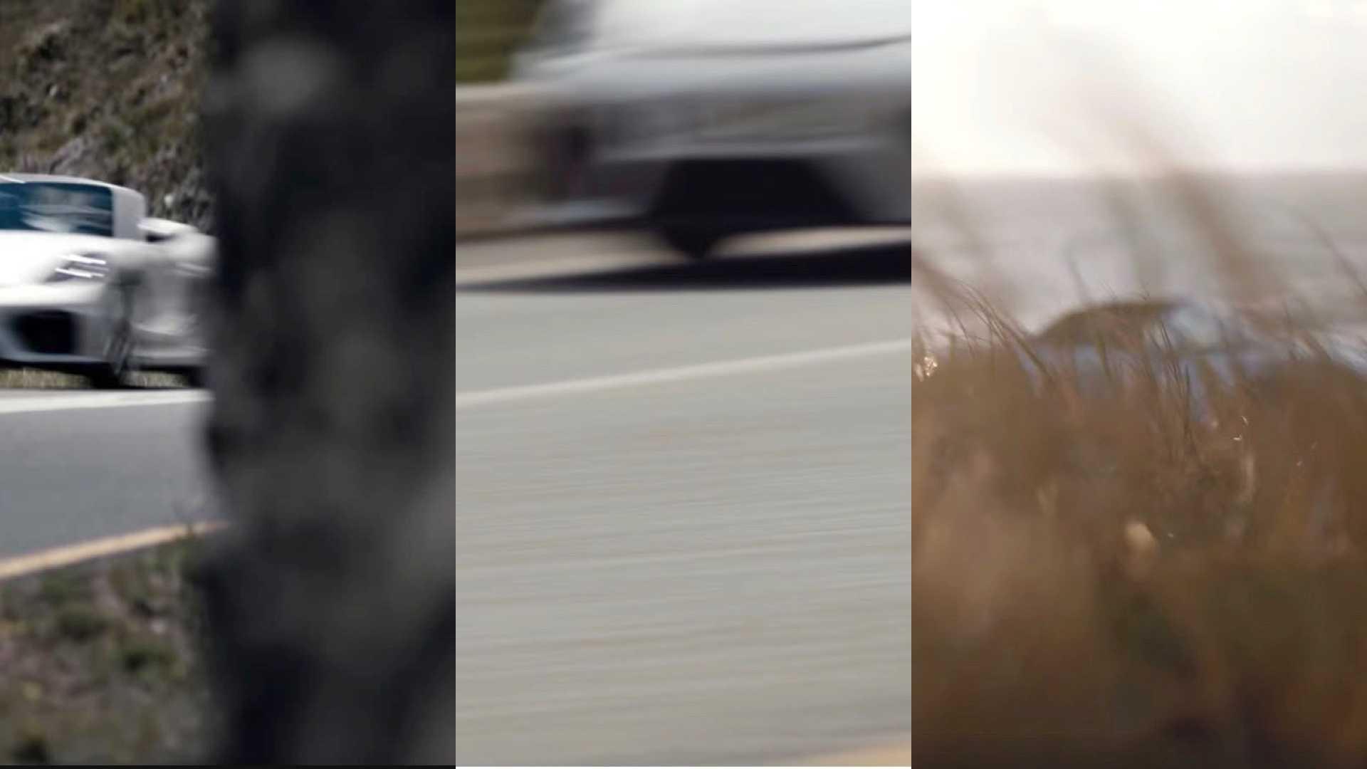 Короткое видео утверждает, что «грядет буря» и в качестве доказательства показывает проносящегося на огромной скорости «Спайдера»