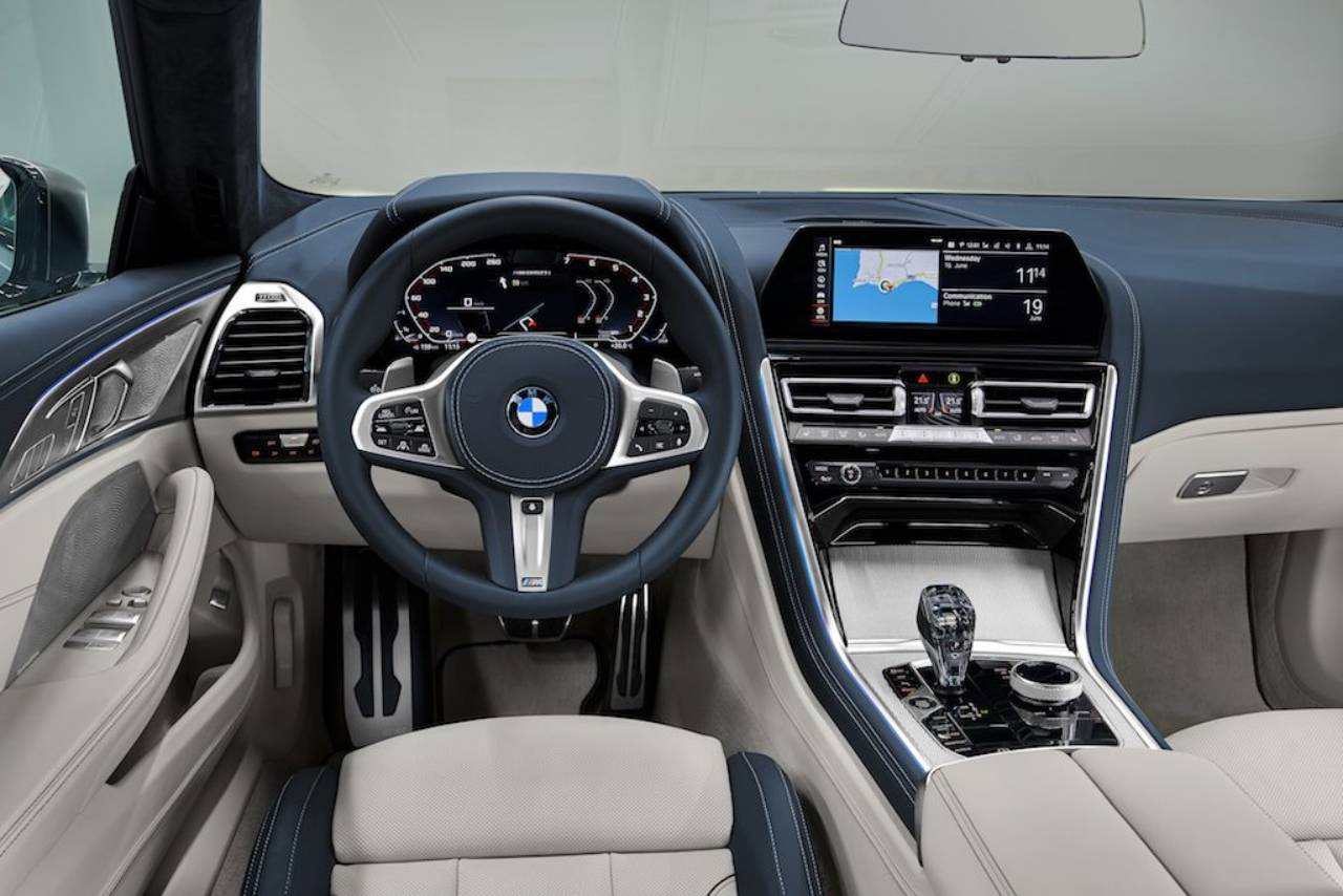Photos showing the cabin of the gorgeous BMW 8 Series Gran Coupe have appeared online just a few days ahead of its live premiere