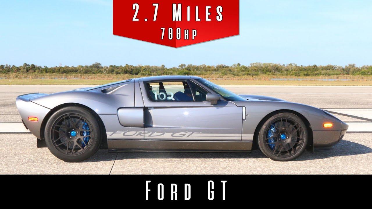 На днях на полигоне Johnny Bohmer во Флориде испытали Ford GT образца 2006 года