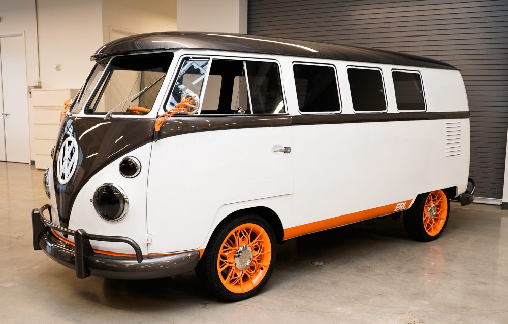 Volkswagen AG has taken the wraps off an all-electric minivan conversion of a 1962 Type 2 Microbus