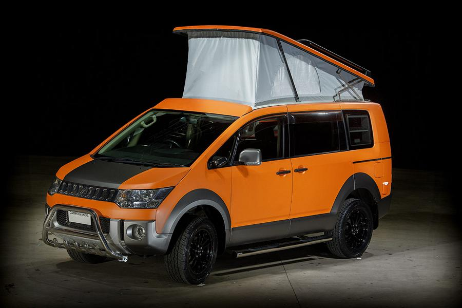 Scotland-based tuner Campervan Co does what is says on the tin: builds custom motorhomes and camper vehicles for fervent road lovers. This D:5 Terrain, based on the 2007 model year version of the Mitsubishi Delica D:5 minivan, is one of their latest creations.