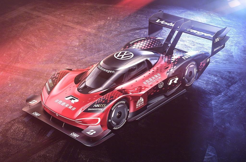 Volkswagen has adorned its newest pet racecar, the all-electric ID.R Concept, with a new paint scheme for the race to the top of the Mount Tianmen in Hunan Province, China.