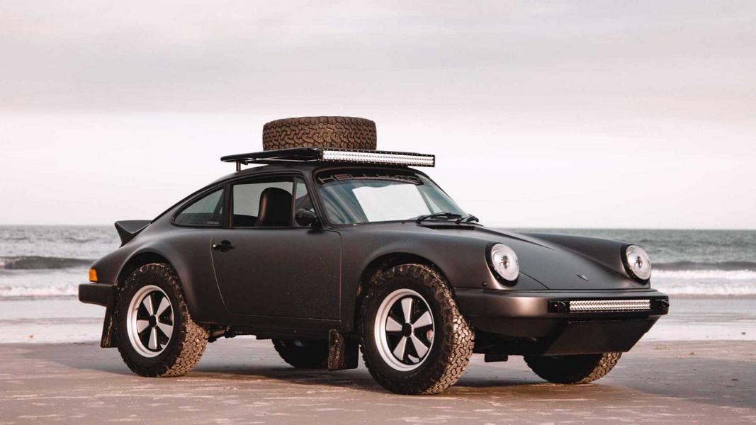 Полное название этого уникального автомобиля – Safari Porsche 911 (930) 3.2 Carrera, но владелец часто зовет его просто «Вилли». Ретромобиль покинул конвейер в 1984 году, но самая интересная метаморфоза произошла в его жизни, когда его купил Энди Килкойн (основатель американского ателье Kelly-Moss).