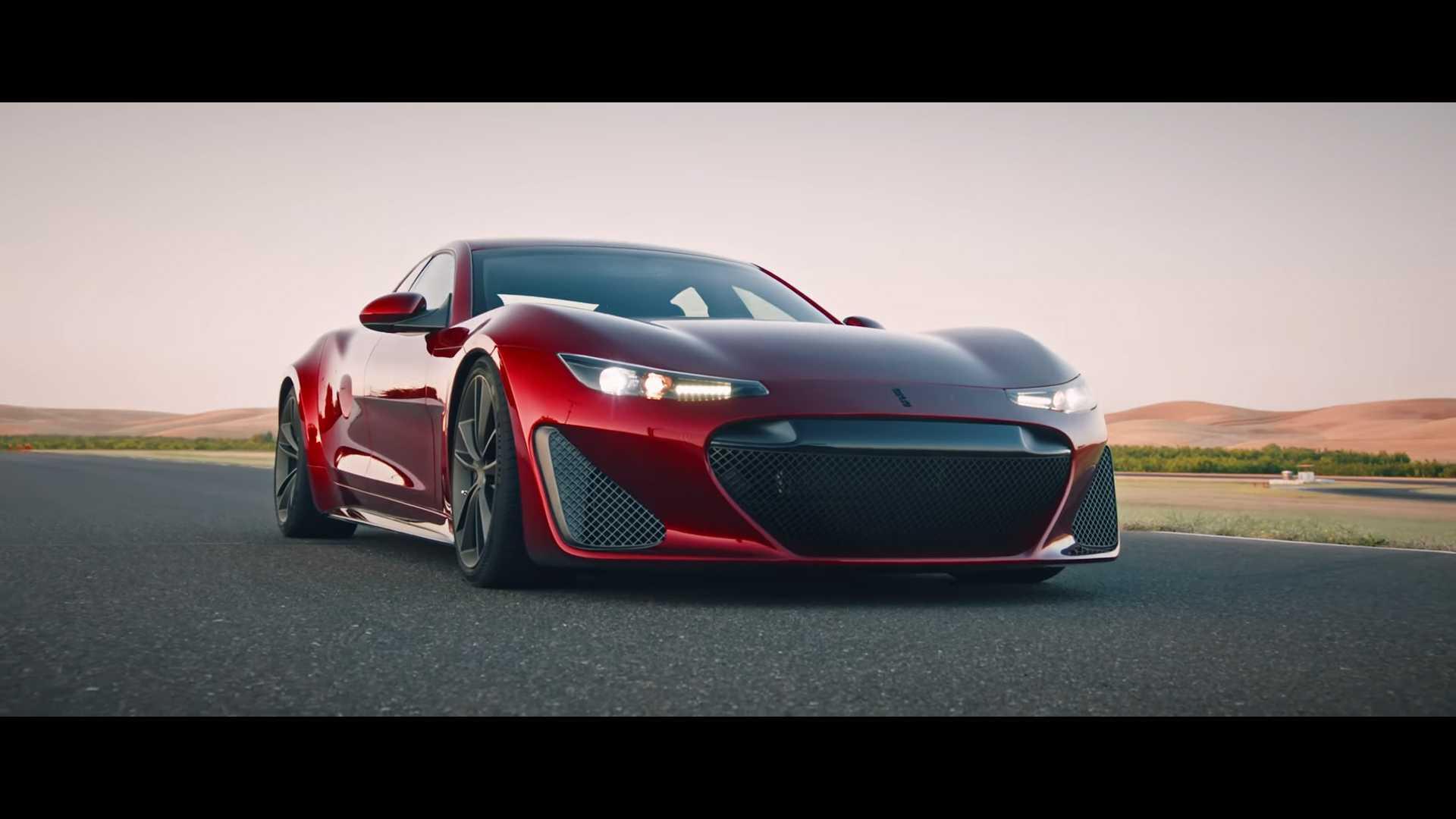 Молодая компания из Калифорнии создала гиперкар GTE с полностью электрической силовой установкой. К разработке 4-дверного купе, которое работает от четырех электродвигателей с постоянным магнитом, привлекали компанию Fisker.