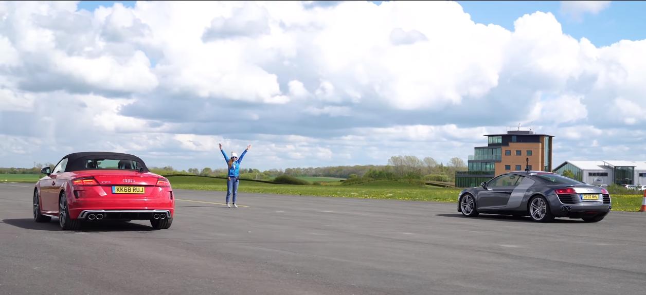Среди фанатов автомобилей уже давно идут споры о том, что быстрее: старые спорткары с моторами серьезной мощности или «малолитражные» современные авто?