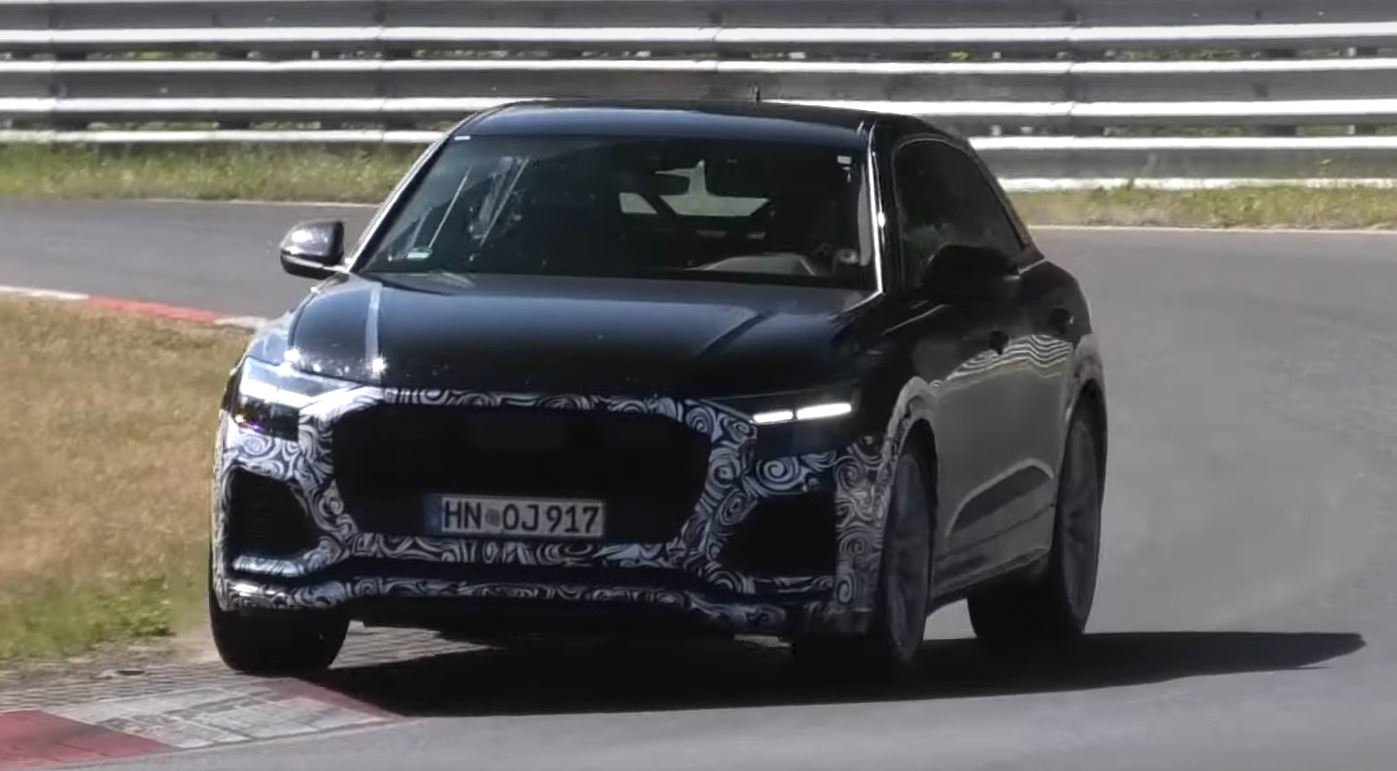 The Audi Q8 coupe/SUV already has a 'warmed-up', diesel V8-based trim version called the SQ8, but it should pale in comparison to the 'hot' RS Q8 spotted at the Nürburgring earlier today.