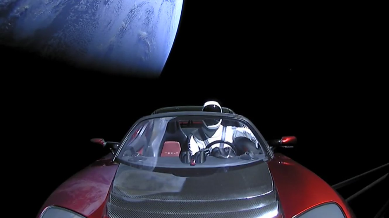 The Tesla Roadster that the company launched into open space in February 2018 has completed its first loop going around the Sun. It took 557 days.