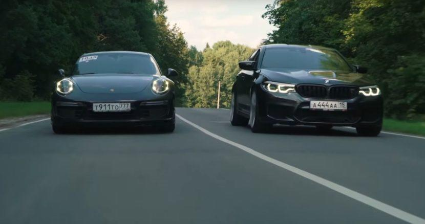 A drag race has recently taken place somewhere in Russia between an F90 BMW M5 Competition, an Audi R8 V10 Plus and a Porsche 911 Turbo S. But, while the latter two stayed completely stock, the BMW owner helped himself to some tuning.