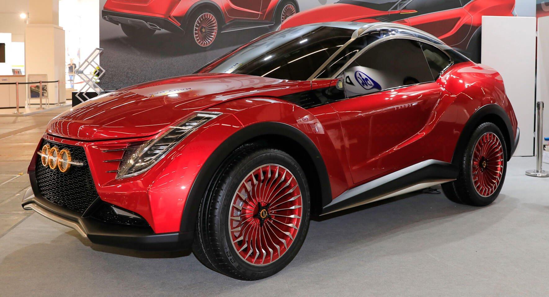 На Франкфуртском автосалоне представлены не только интересные модели знаменитых марок, но и странные машины от малоизвестных производителей. Так, тайваньская компания продемонстрировала San Yuan Concept – прототип двухдверного купе-кроссовера.