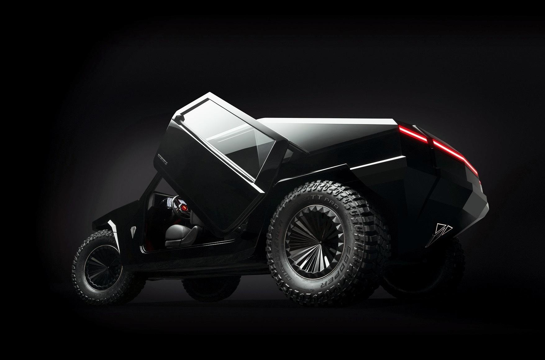 В рамках открывшегося мотор-шоу во Франкфурте компания Ramsmobile (США) презентовала Protos RM-X2 – брутальный внедорожник с клиренсом 400-700 мм, способный перемещаться в условиях экстремального бездорожья с помощью гусеницы.