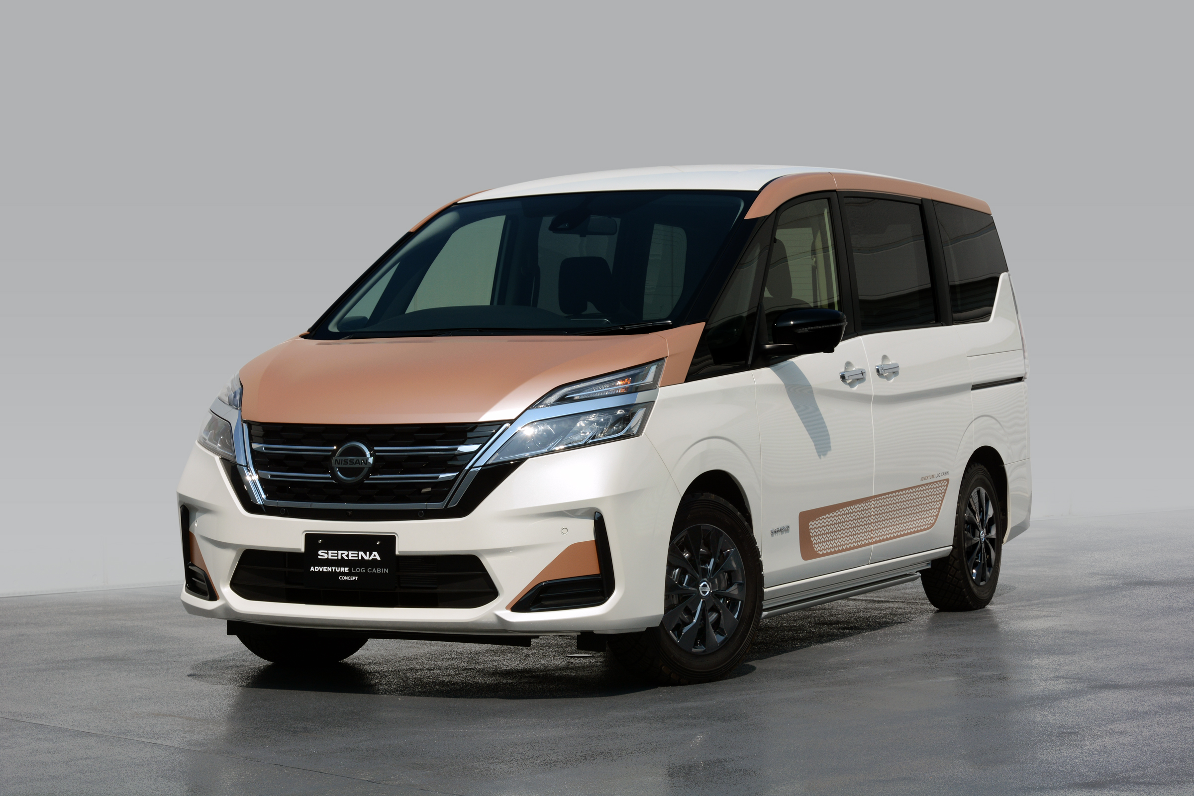 Autech Japan is an internal subdivision of Nissan that deals with customization, tuning and accessorizing of the domestically sold Nissan vehicles. This Nissan Serena Adventure Log Cabin is their latest project, and it features a bed for two.