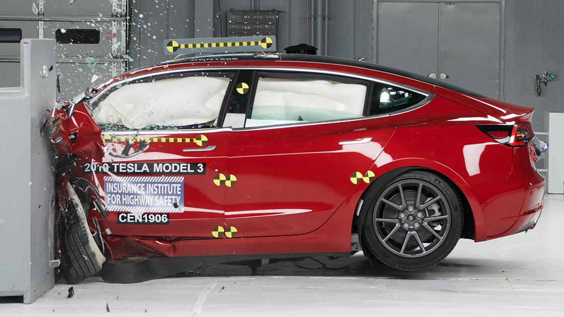 U.S.-based Insurance Institute for Highway Safety (IIHS) has published the results of a series of crash tests it conducted with the Tesla Model 3. For the first time on record, the car has topped every category, albeit not without caveats.