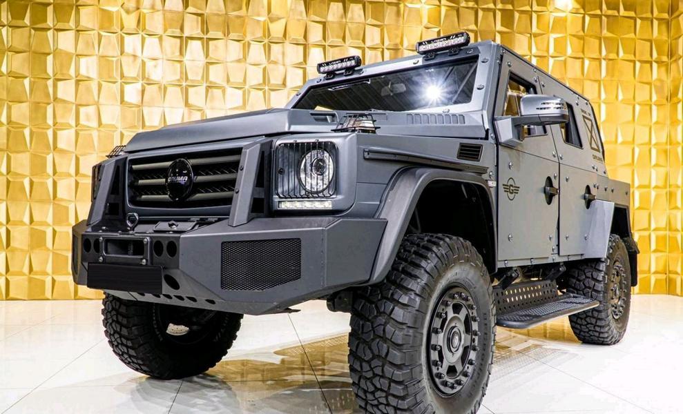 Автосалон GRUMA Automobile GmbH (Германия) предложил своим клиентам легкий патрульный бронемобиль ENOK P1 на базе Mercedes-Benz G500 4×4². Взглянем?