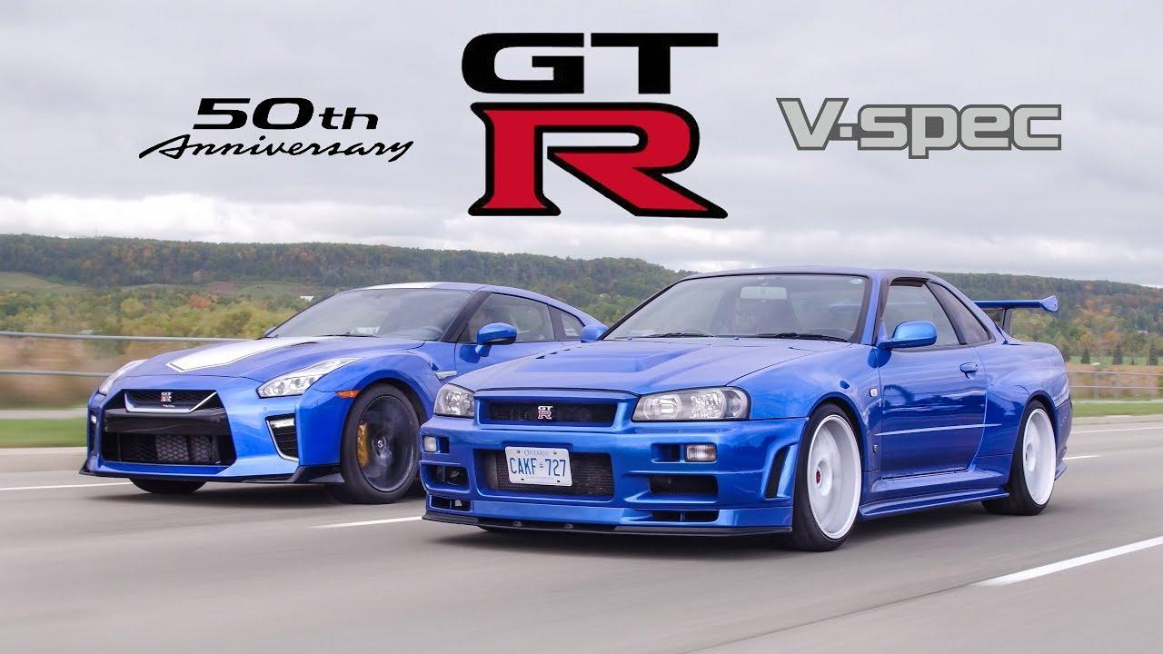 Nissan R34 GT-R занимает почетное место в истории автомобилестроения. Интересно, как бы он смотрелся на фоне Nissan R35 GT-R, выпущенного к пятидесятилетнему юбилею японского бренда? Это и решили выяснить ведущие YouTube-канала The Straight Pipes.