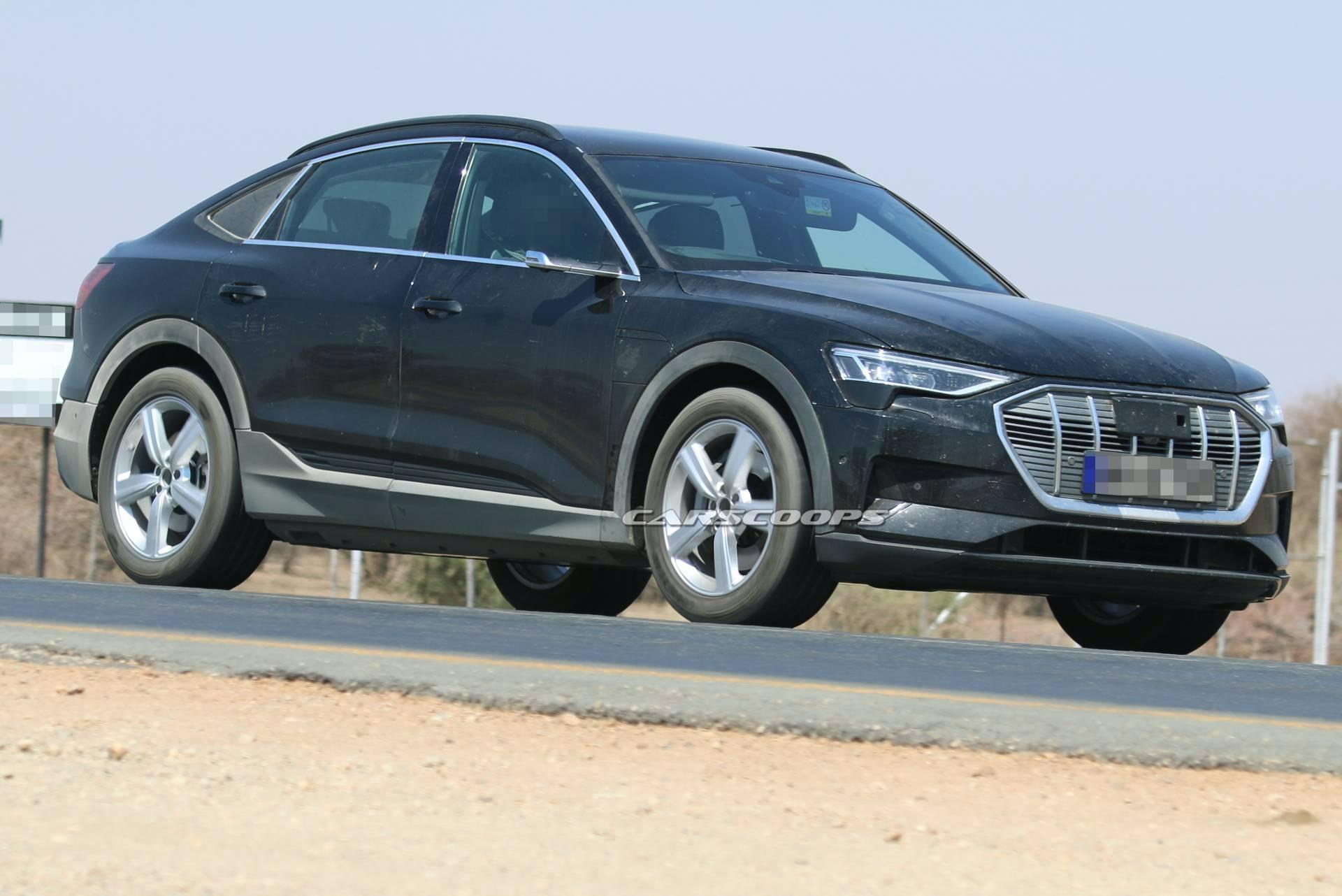 Внешность электрического Audi e-tron Sportback теперь не является секретом. Фотошпионам удалось поймать купе-кроссовер без камуфляжной пленки во время финальных испытаний.