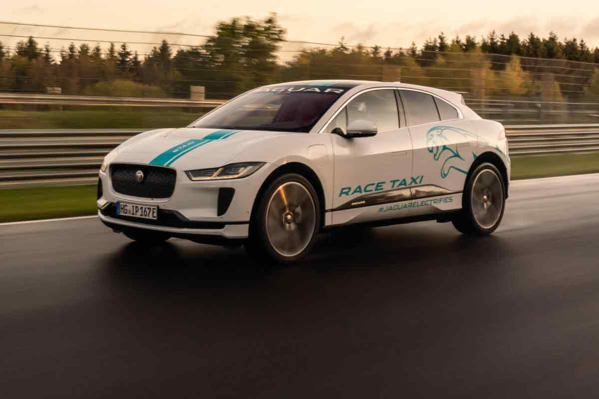 The all-electric Jaguar I-Pace crossover/SUV has been added to the 'racing taxi' pool of the famed Nürburgring Circuit in Germany. In November, all those willing to book a Nordschleife ride with a professional racecar driver can do so for €149.