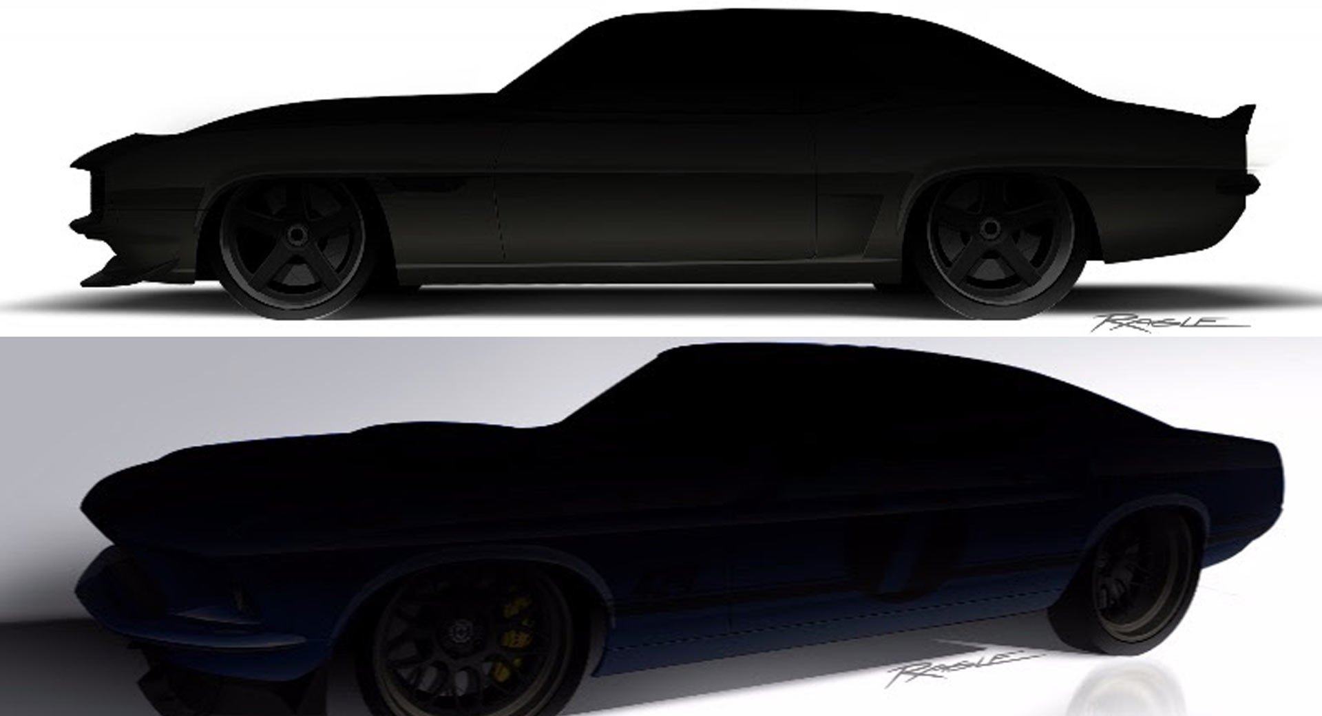 The classical car restoration crew over at Ringbrothers has finished working on a 1969 Chevrolet Camaro and Ford Mustang Mach 1. Both cars will be exhibited at this year's SEMA show in Las-Vegas. In the meantime, though, let us take a closer look.