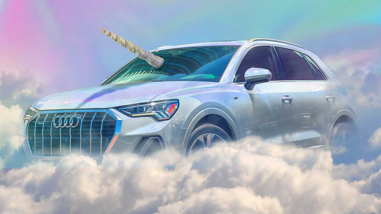 The U.S. subdivision of Audi has found a creative way to celebrate the Halloween, turning its Q3 SUV (see video if you need a reminder) into a unicorn.